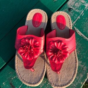 Croft and Barrow coral colored sandals